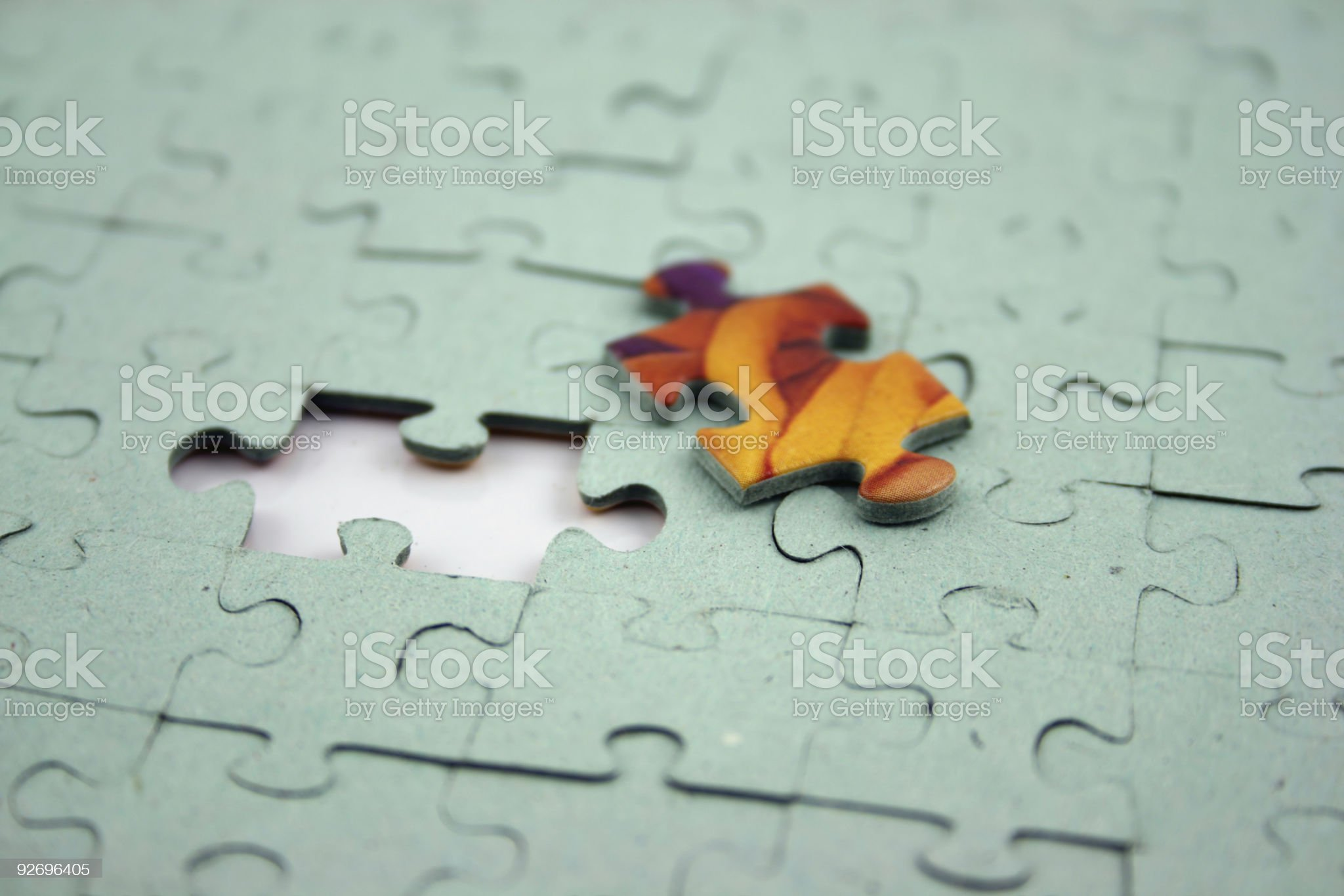 Jigsaw - Color Bit (Shallow DOF) royalty-free stock photo