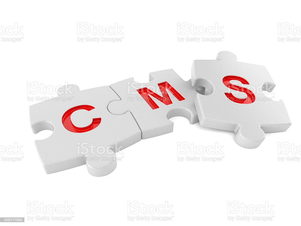 CMS jigsaw stock photo