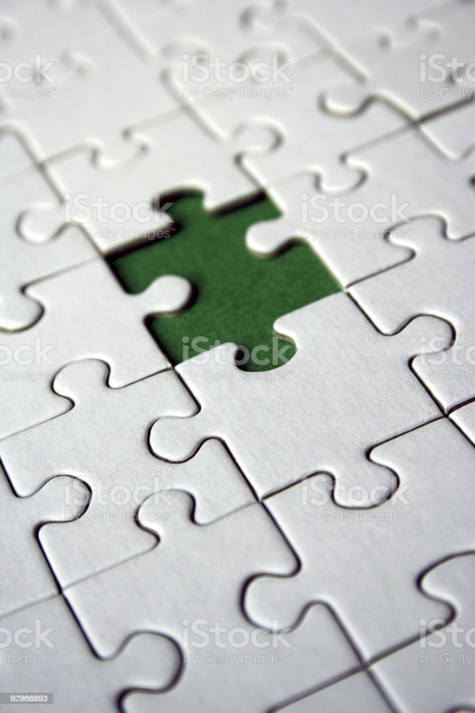 Jigsaw (conceptual) royalty-free stock photo