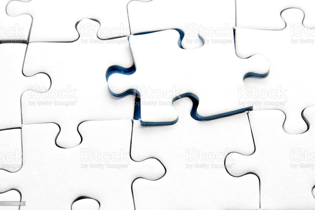 Jigsaw piece royalty-free stock photo