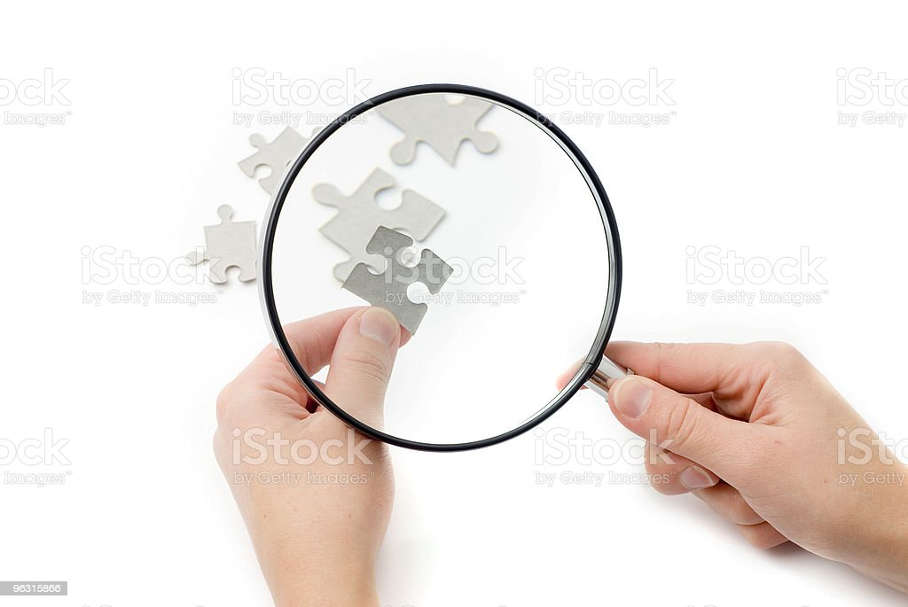 Jigsaw piece royalty-free stock photo