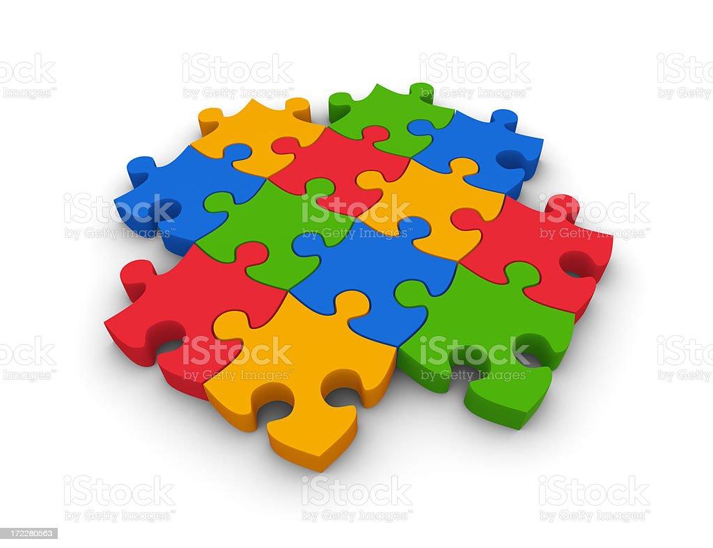 Jigsaw pieces royalty-free stock photo