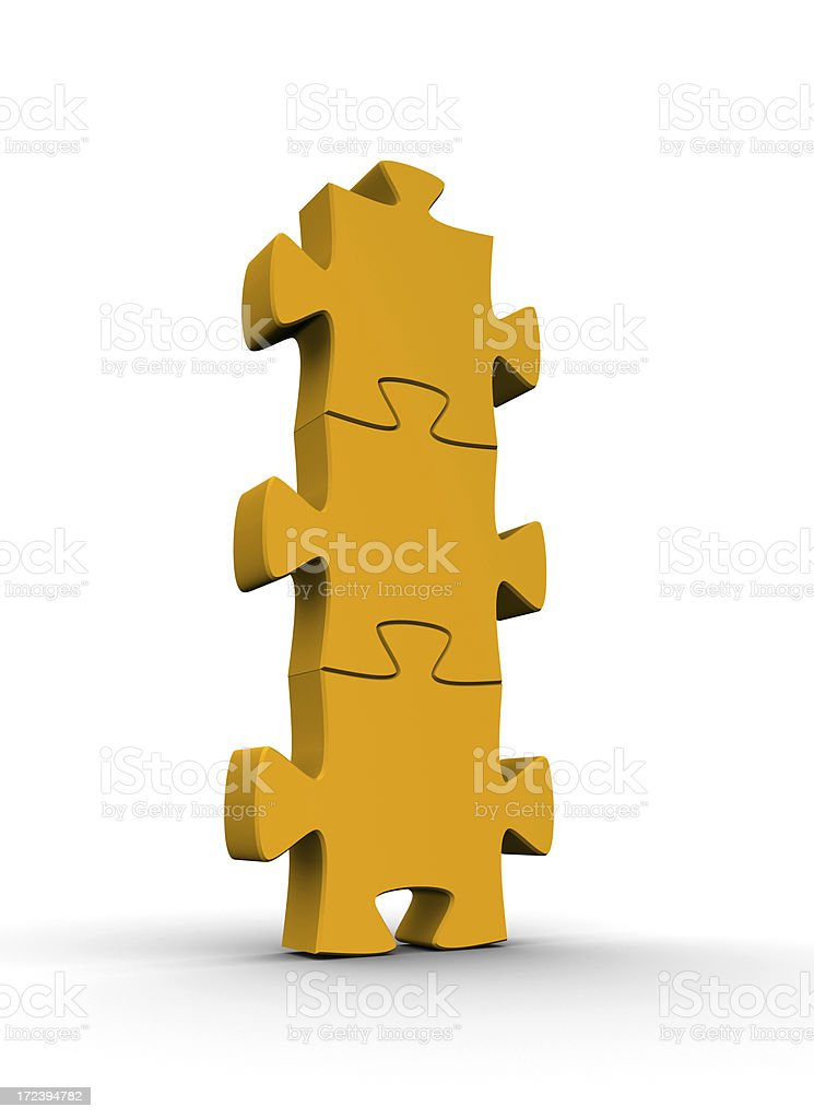 Jigsaw pieces royalty-free stock photo