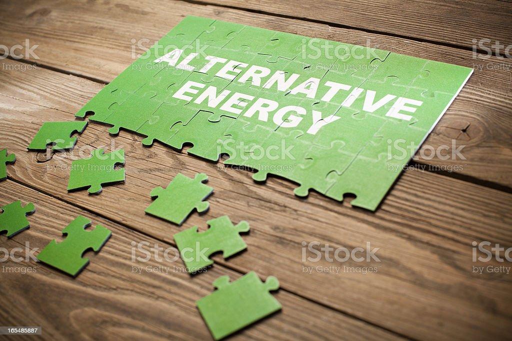 Jigsaw Puzzle - Alternative Energy royalty-free stock photo