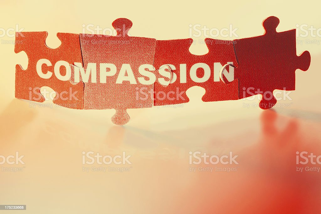 Jigsaw Puzzle - Compassion royalty-free stock photo