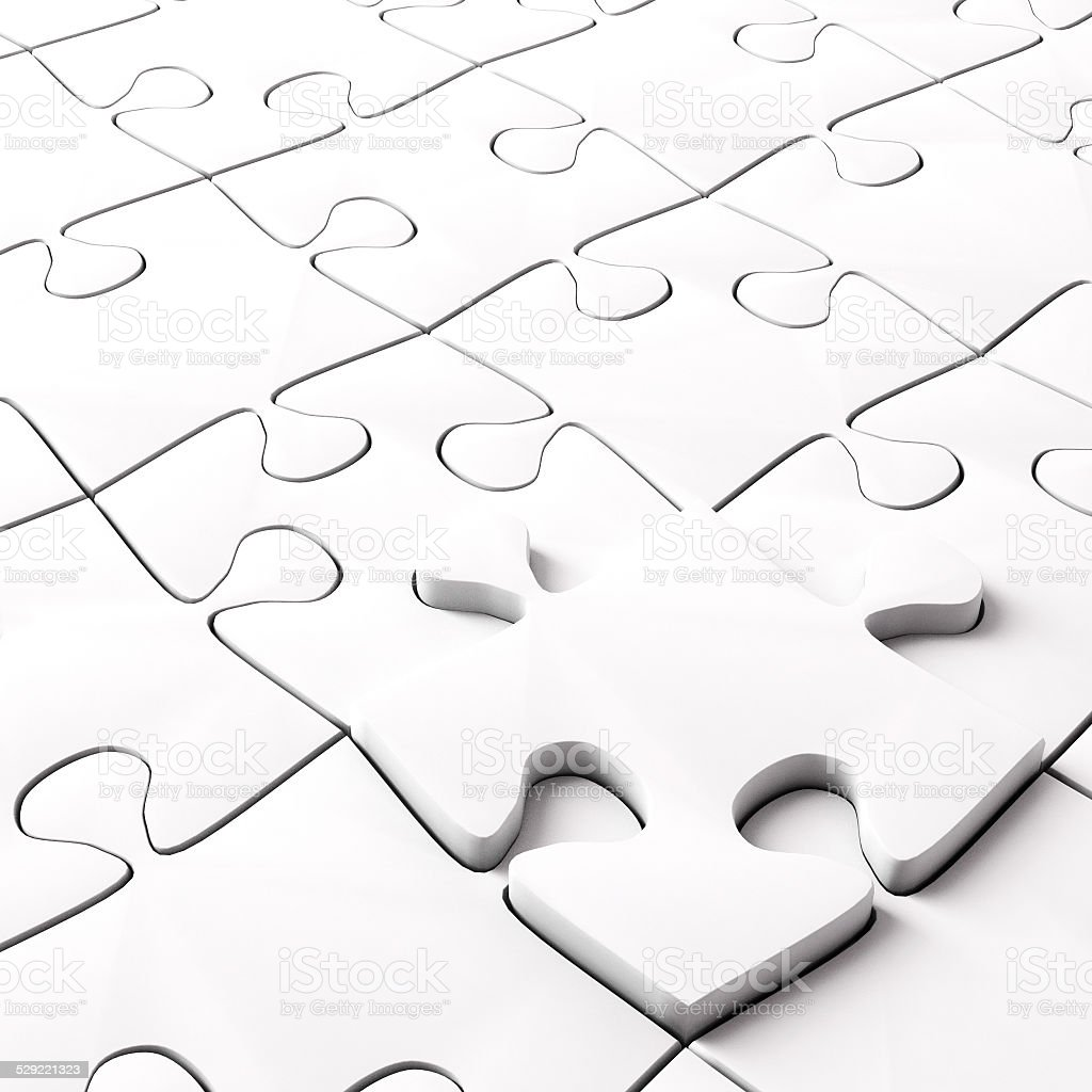 Jigsaw Puzzle Concept for Business stock photo