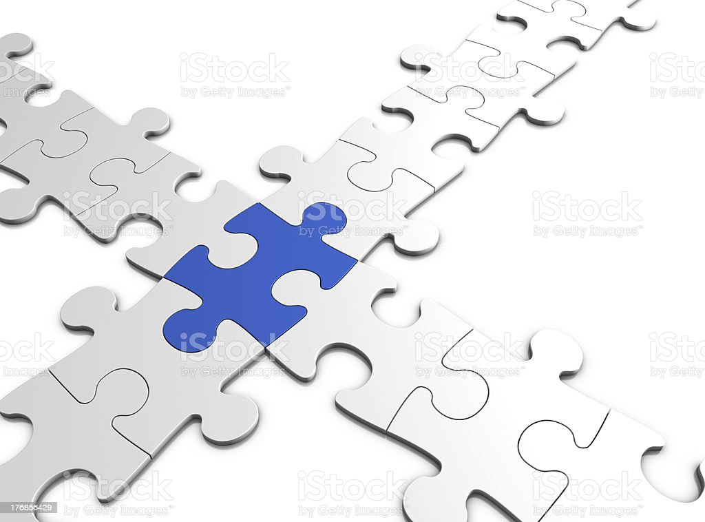 jigsaw puzzle connection royalty-free stock photo