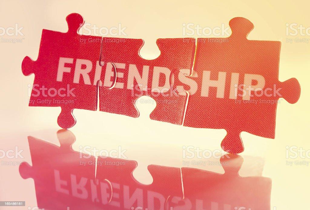 Jigsaw Puzzle - Friendship royalty-free stock photo