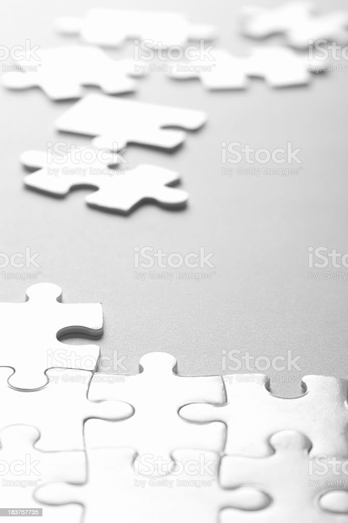 Jigsaw Puzzle Game royalty-free stock photo