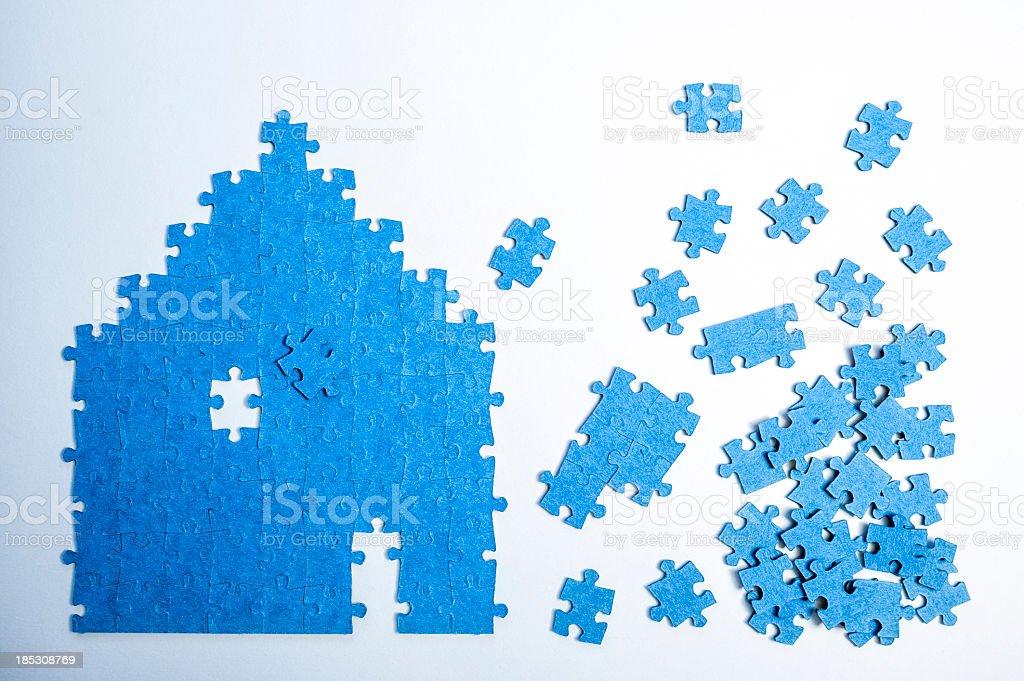 Jigsaw Puzzle House royalty-free stock photo