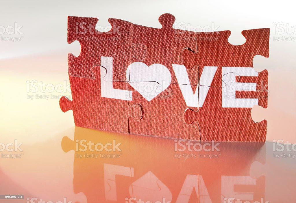 Jigsaw Puzzle - Love royalty-free stock photo