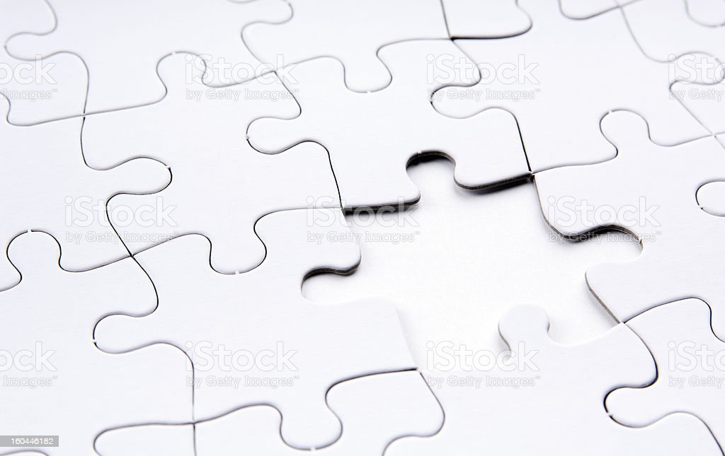 Jigsaw Puzzle Missing Piece royalty-free stock photo