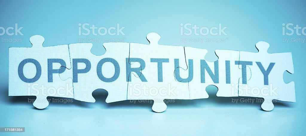 Jigsaw Puzzle - Opportunity royalty-free stock photo