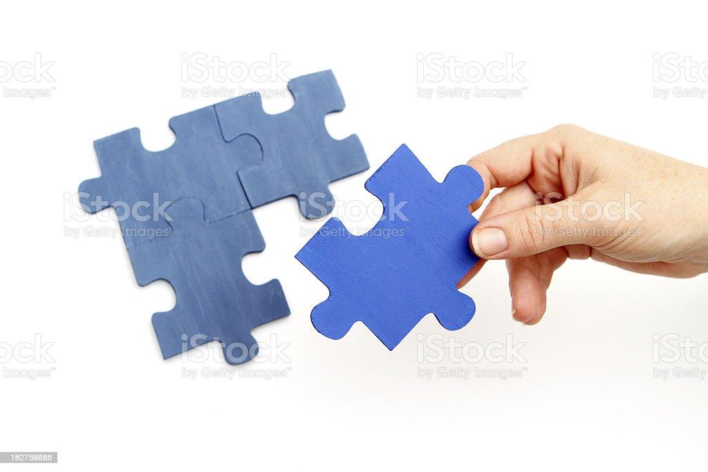 Jigsaw Puzzle Piece stock photo