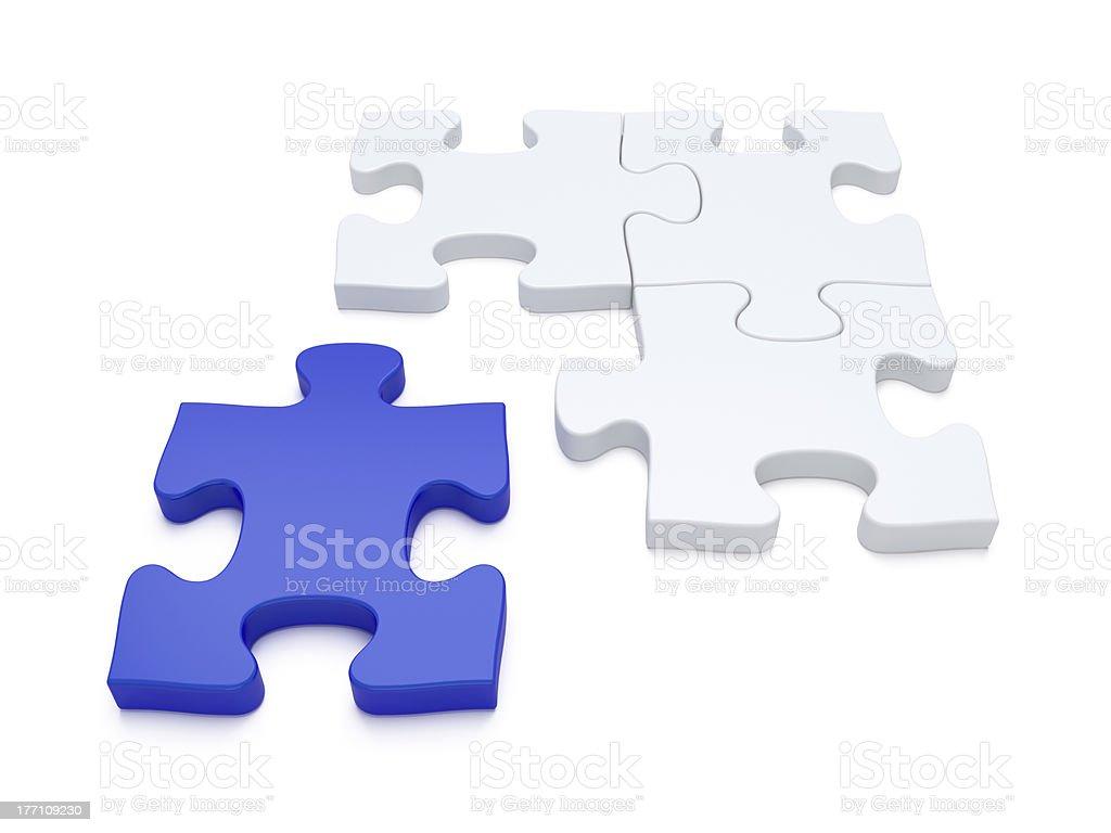 Jigsaw Puzzle Piece Vacancy stock photo