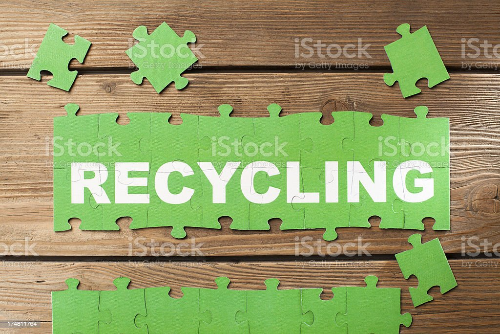 Jigsaw Puzzle - Recycling royalty-free stock photo