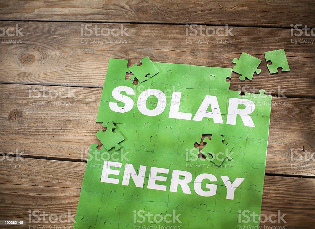 Jigsaw Puzzle - Solar Energy royalty-free stock photo