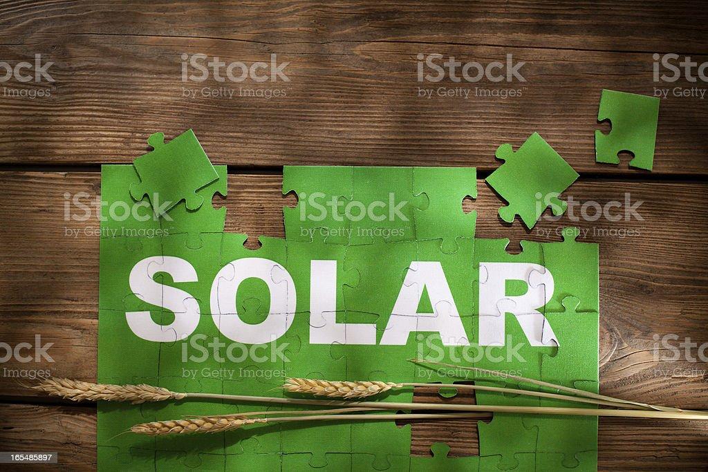 Jigsaw Puzzle - Solar royalty-free stock photo