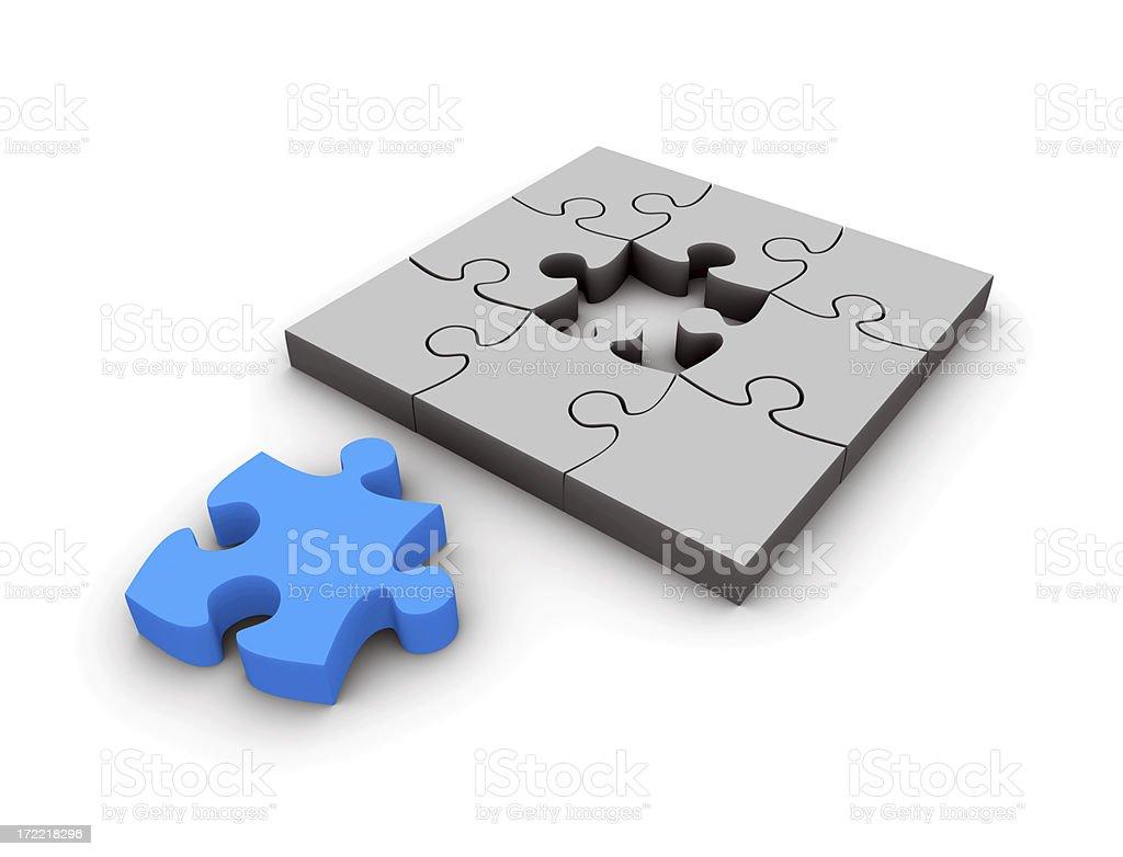 Jigsaw puzzle solution XXL royalty-free stock photo