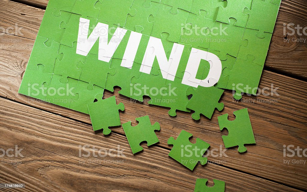 Jigsaw Puzzle - Wind royalty-free stock photo