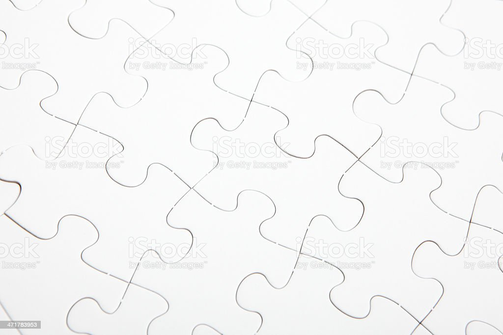 Jigsaw puzzle with blank white color royalty-free stock photo