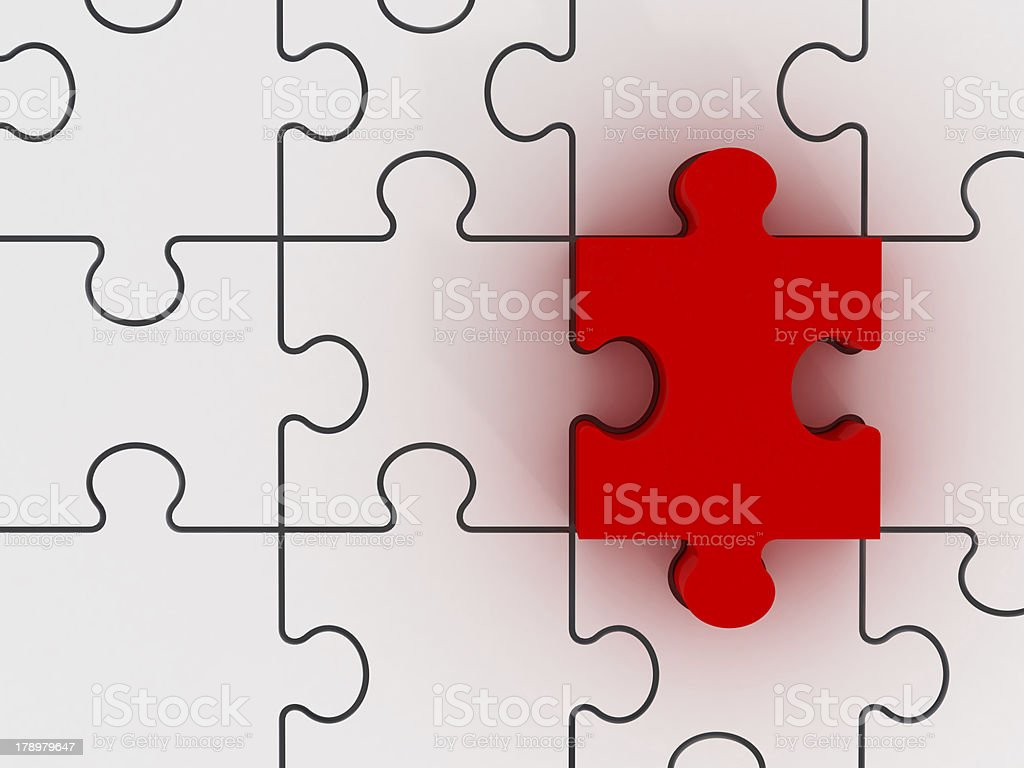 Jigsaw Puzzle with Dimension royalty-free stock photo