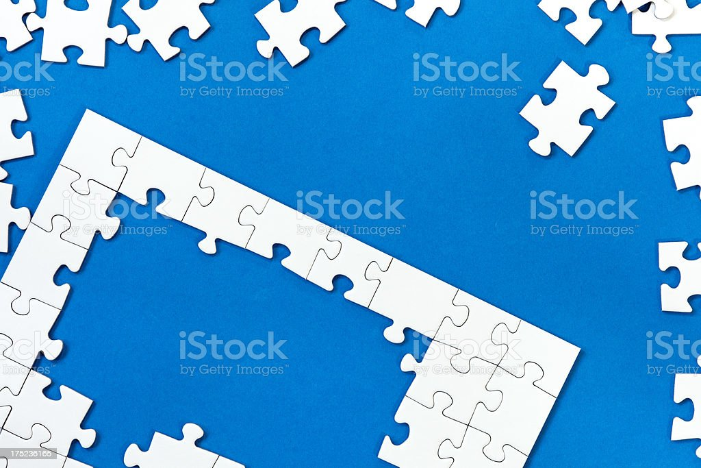 jigsaw puzzle with several missing pieces royalty-free stock photo