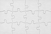 Jigsaw Puzzle With Twelve Blank White Pieces