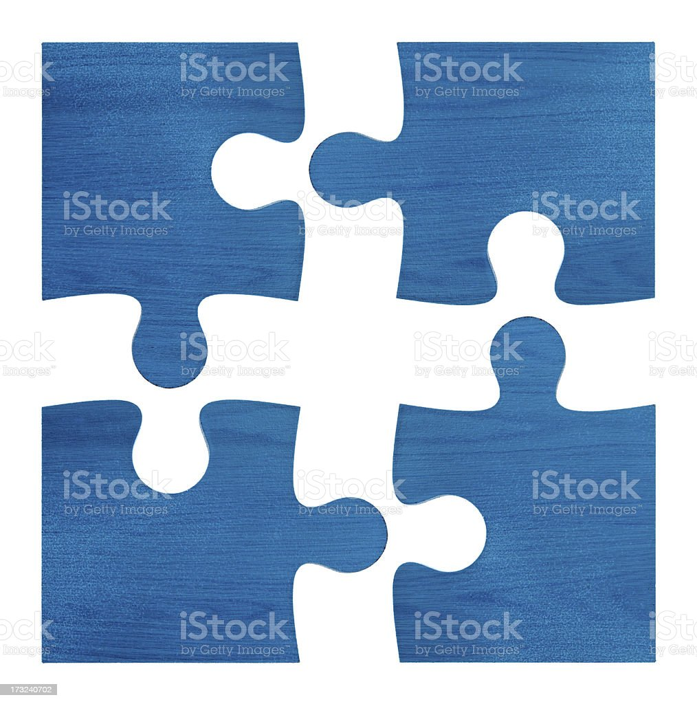 Jigsaw Puzzles (Clipping path!) isolated on white background stock photo