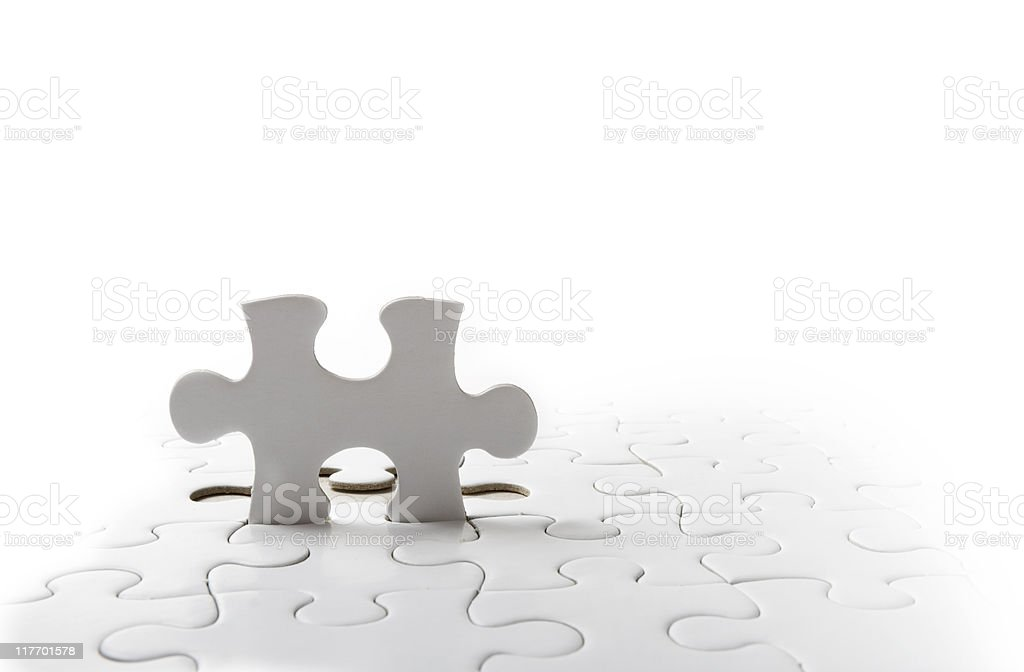 Jigsaw series royalty-free stock photo