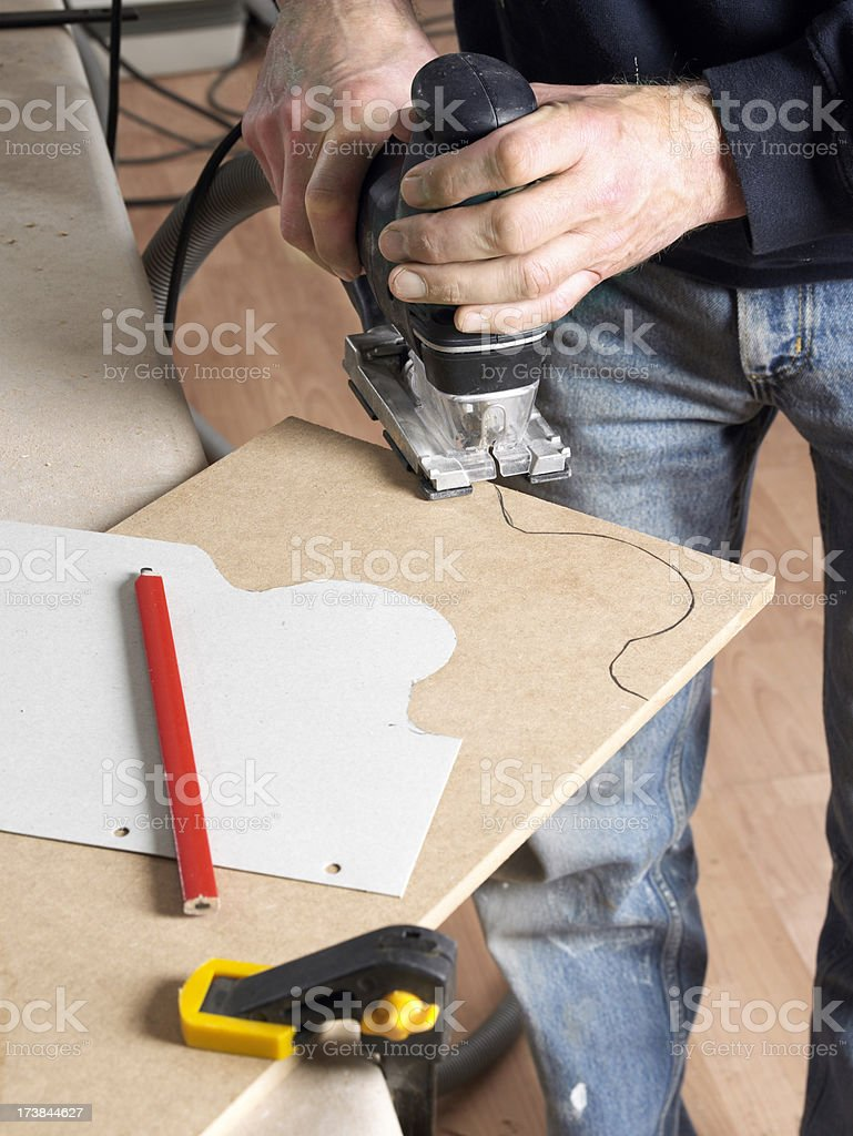 Jigsawing stock photo