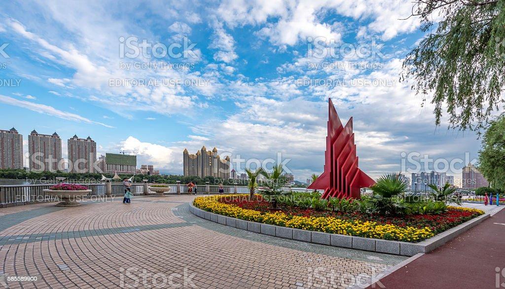 Jilin City Riverfront stock photo