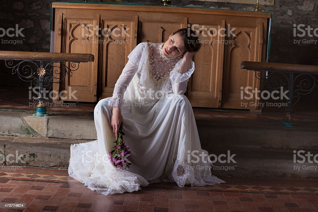 Jilted Bride stock photo