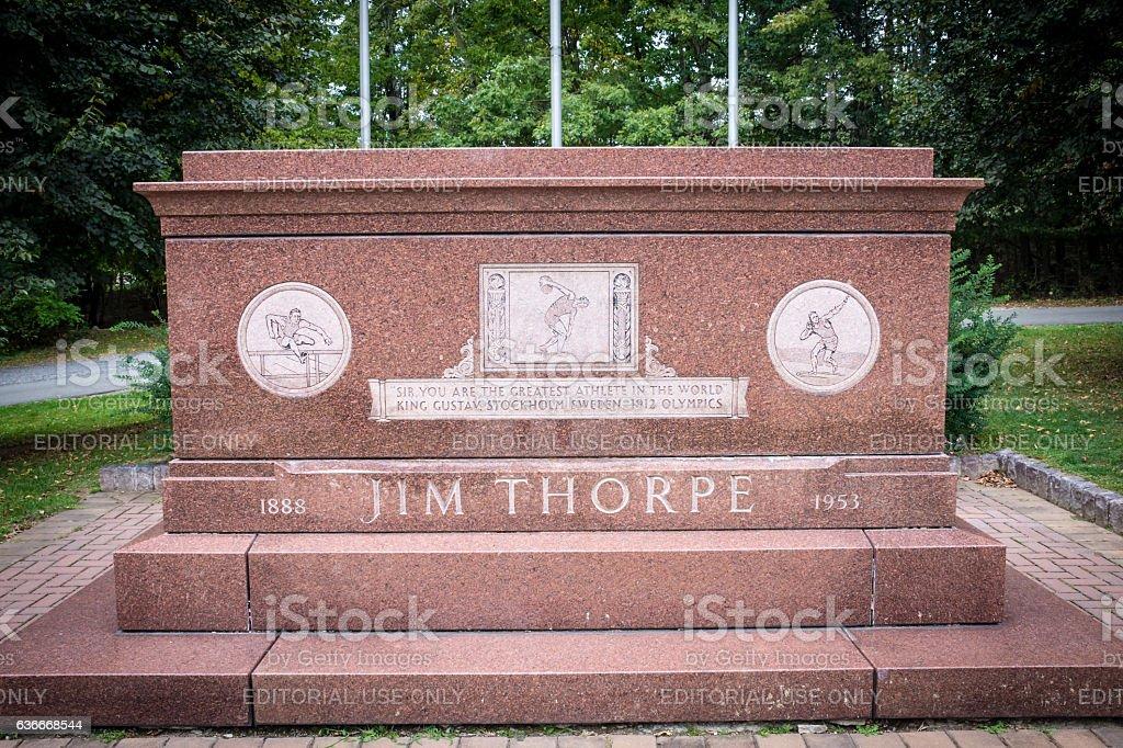 Jim Thorpe Grave Memorial stock photo