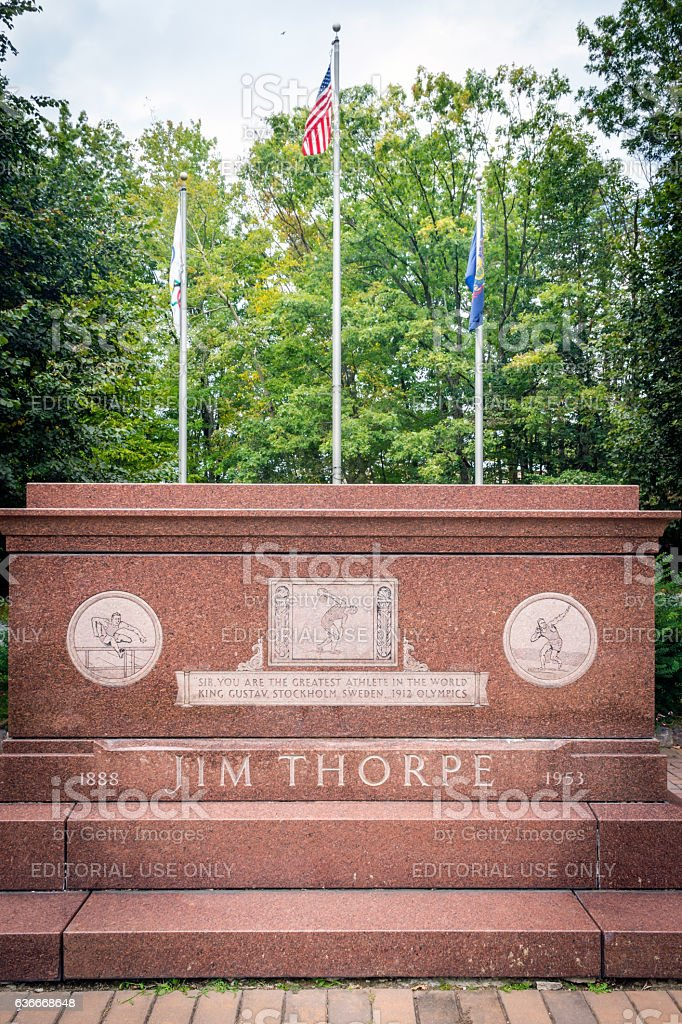 Jim Thorpe  Memorial stock photo