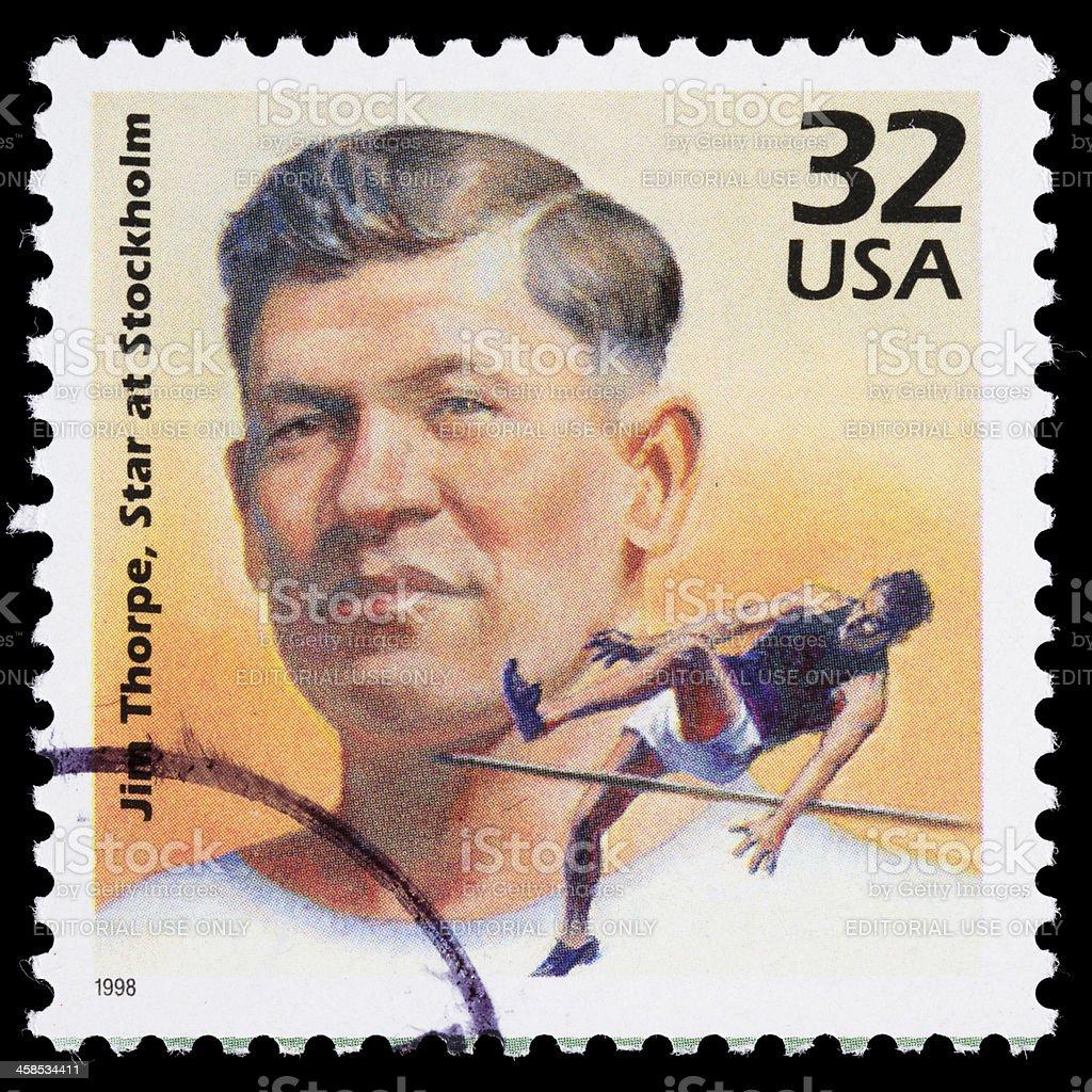 USA Jim Thorpe postage stamp stock photo
