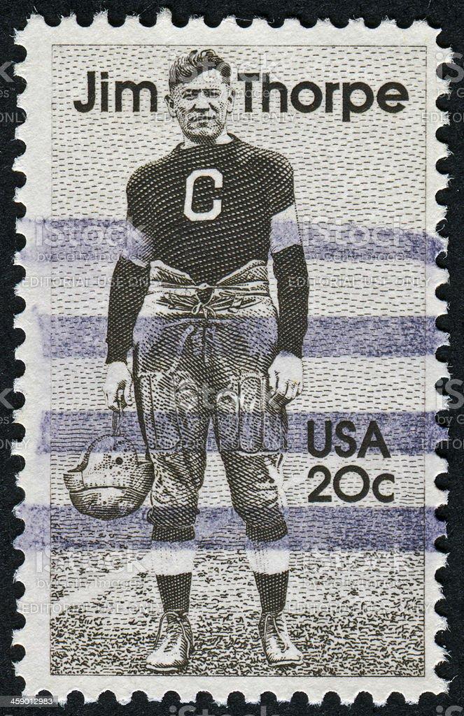 Jim Thorpe Stamp stock photo