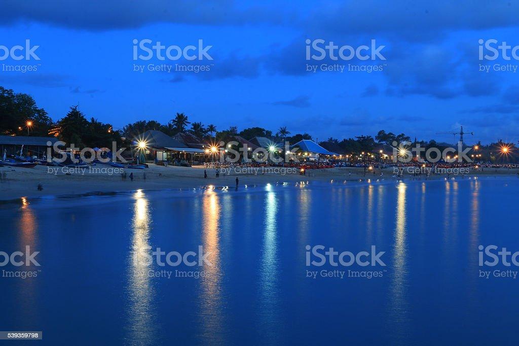 Jimbaran beach bali stock photo