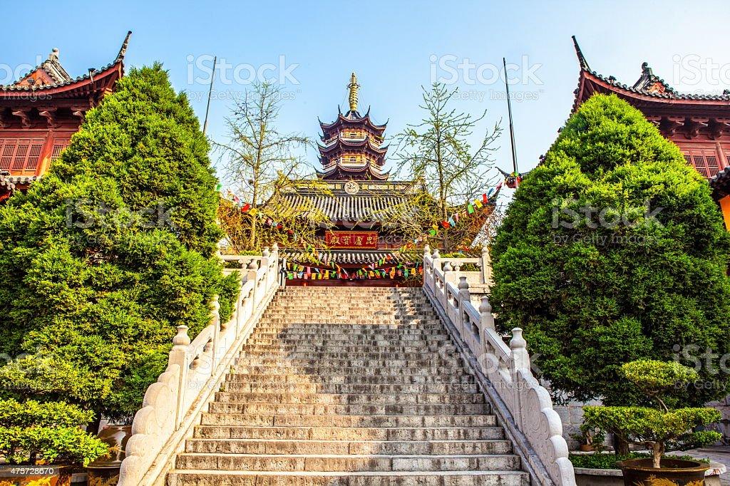 Jiming Temple in Nanjing city stock photo