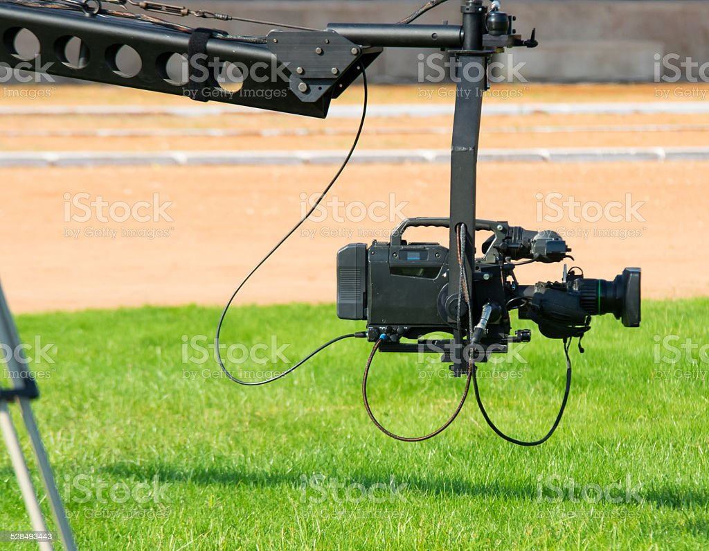 jimmy jib stock photo