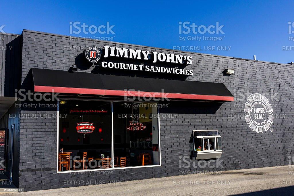 Jimmy John's Gourmet Sandwich Restaurant II stock photo