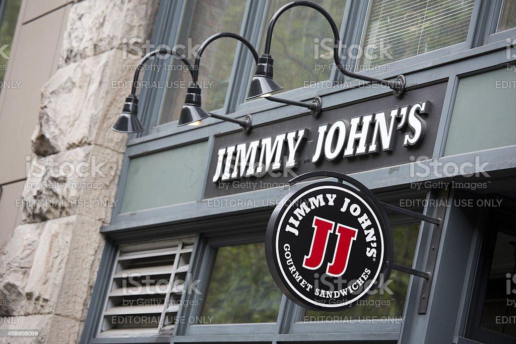 Jimmy John's Gourmet Sandwich Shop, Seattle stock photo