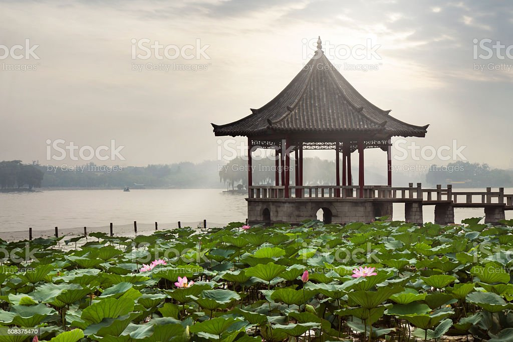 Jinan daming lake stock photo