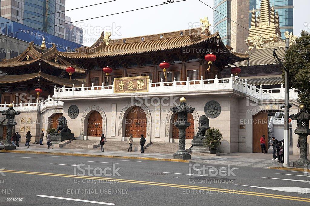 Jing'an Temple stock photo