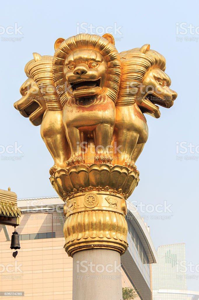 Jing'an Temple, Shanghai stock photo