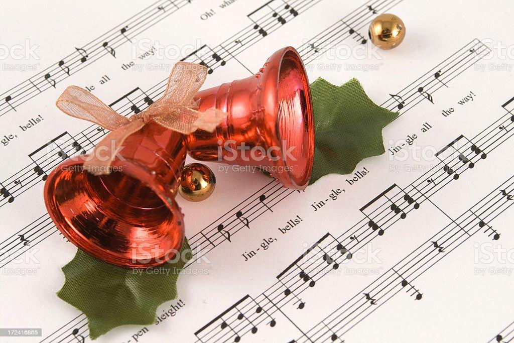 Jingle bells lyrics concept stock photo