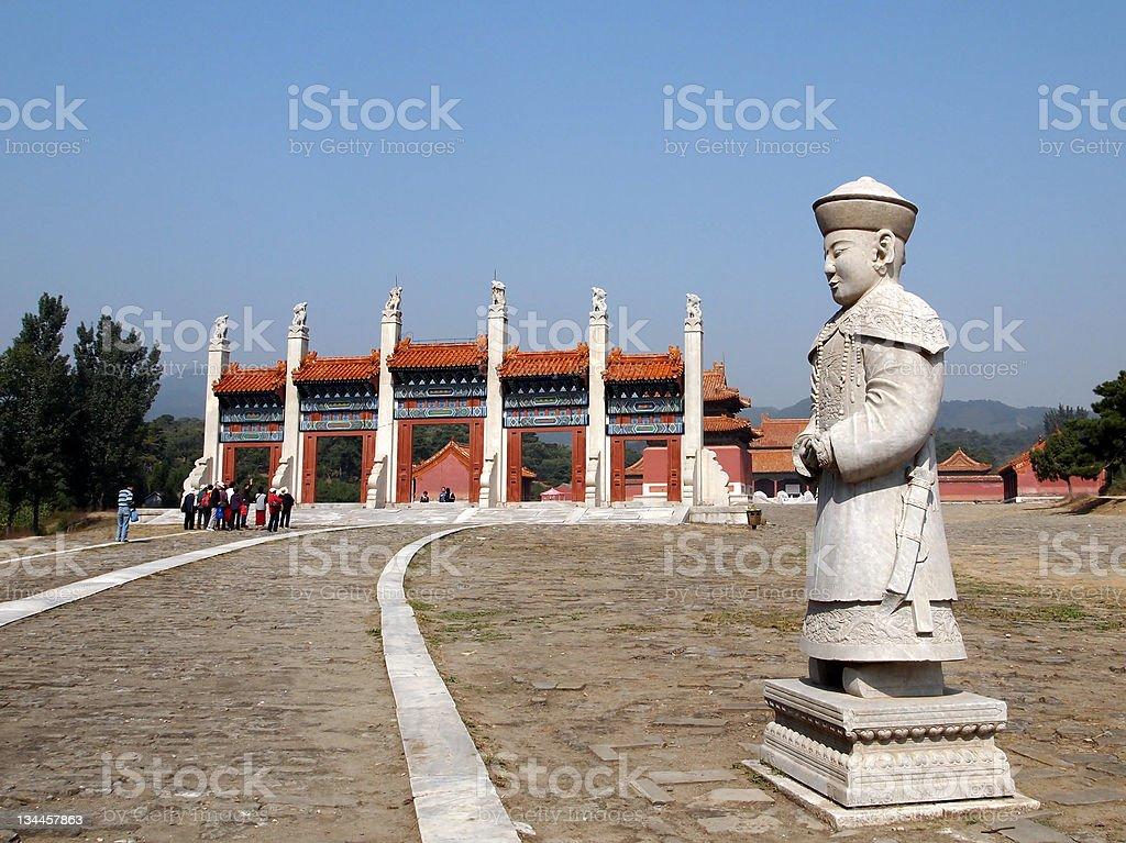Jingling, Eastern Qing Tombs, Beihai, China stock photo