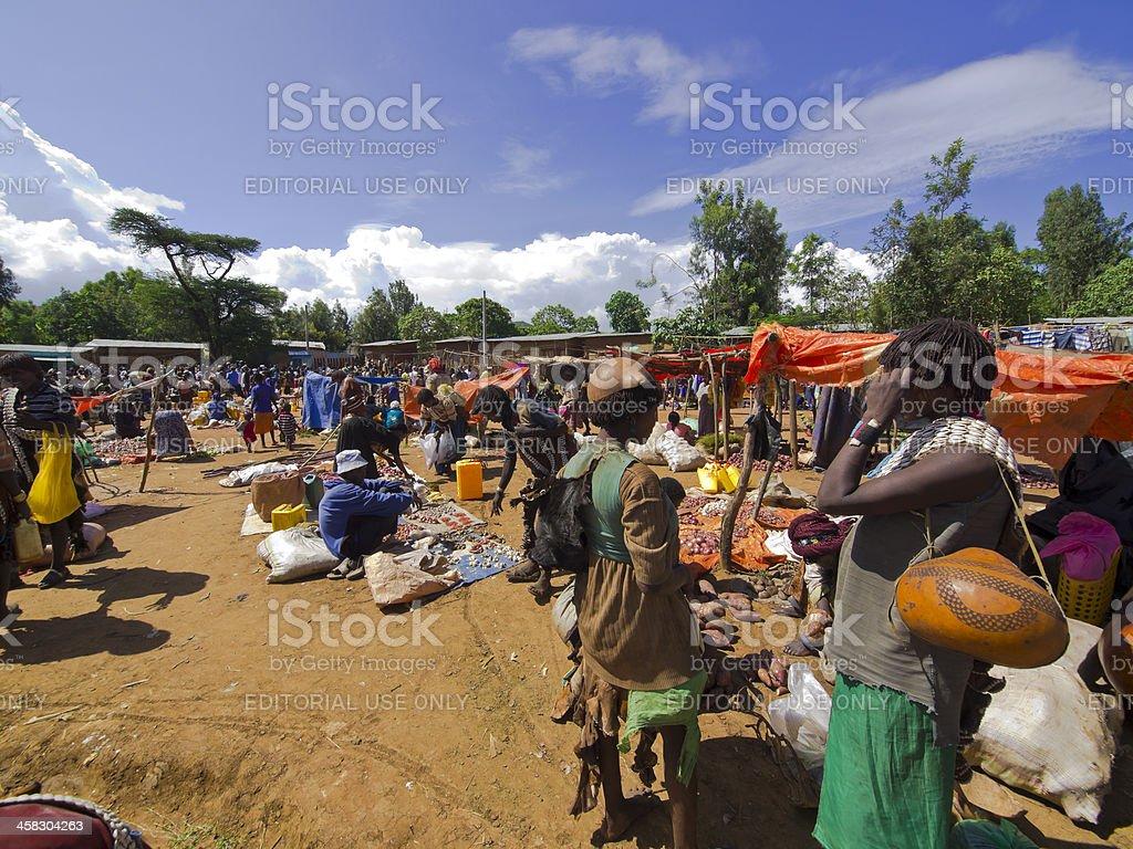 Jinka market royalty-free stock photo
