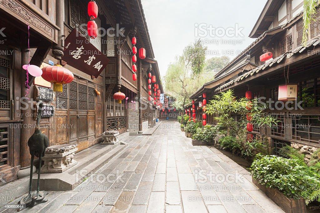 Jinli ancient street in Chengdu stock photo