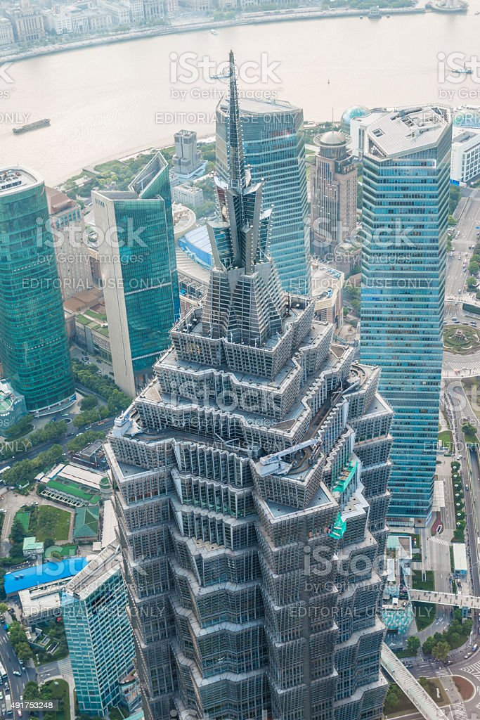 Jinmao Tower,Shanghai stock photo